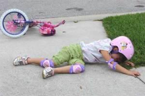 girl fell